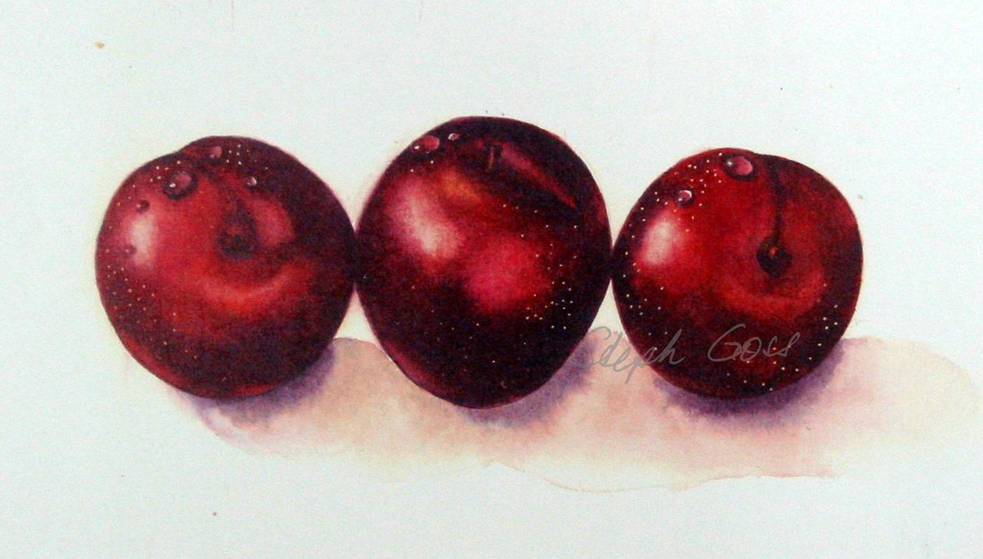 6. three plums